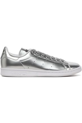 ADIDAS ORIGINALS Perforated metallic faux leather sneakers
