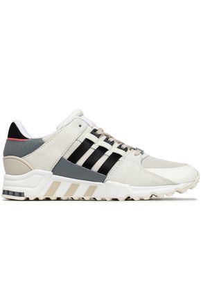 Snake Effect Paneled Leather, Suede And Mesh Sneakers by Adidas Originals