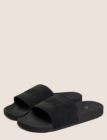ARMANI EXCHANGE EMBOSSED LOGO SLIDES Sandals [*** pickupInStoreShippingNotGuaranteed_info ***] r