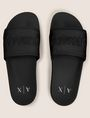 ARMANI EXCHANGE EMBOSSED LOGO SLIDES Sandals [*** pickupInStoreShippingNotGuaranteed_info ***] d