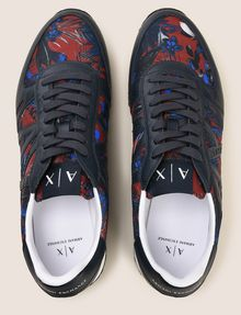 ARMANI EXCHANGE TROPICAL FLORAL RETRO LOWTOP SNEAKER Sneaker Man e