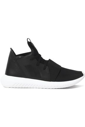 ADIDAS ORIGINALS Tubular Defiant leather and neoprene sneakers