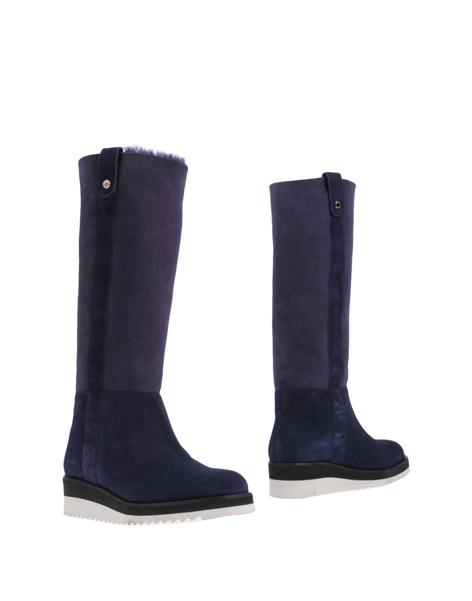 A.TESTONI Boots in Dark Purple