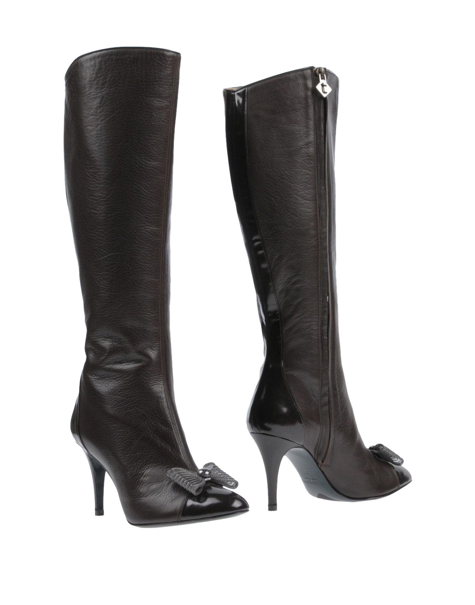 A. TESTONI Boots, Dark Brown