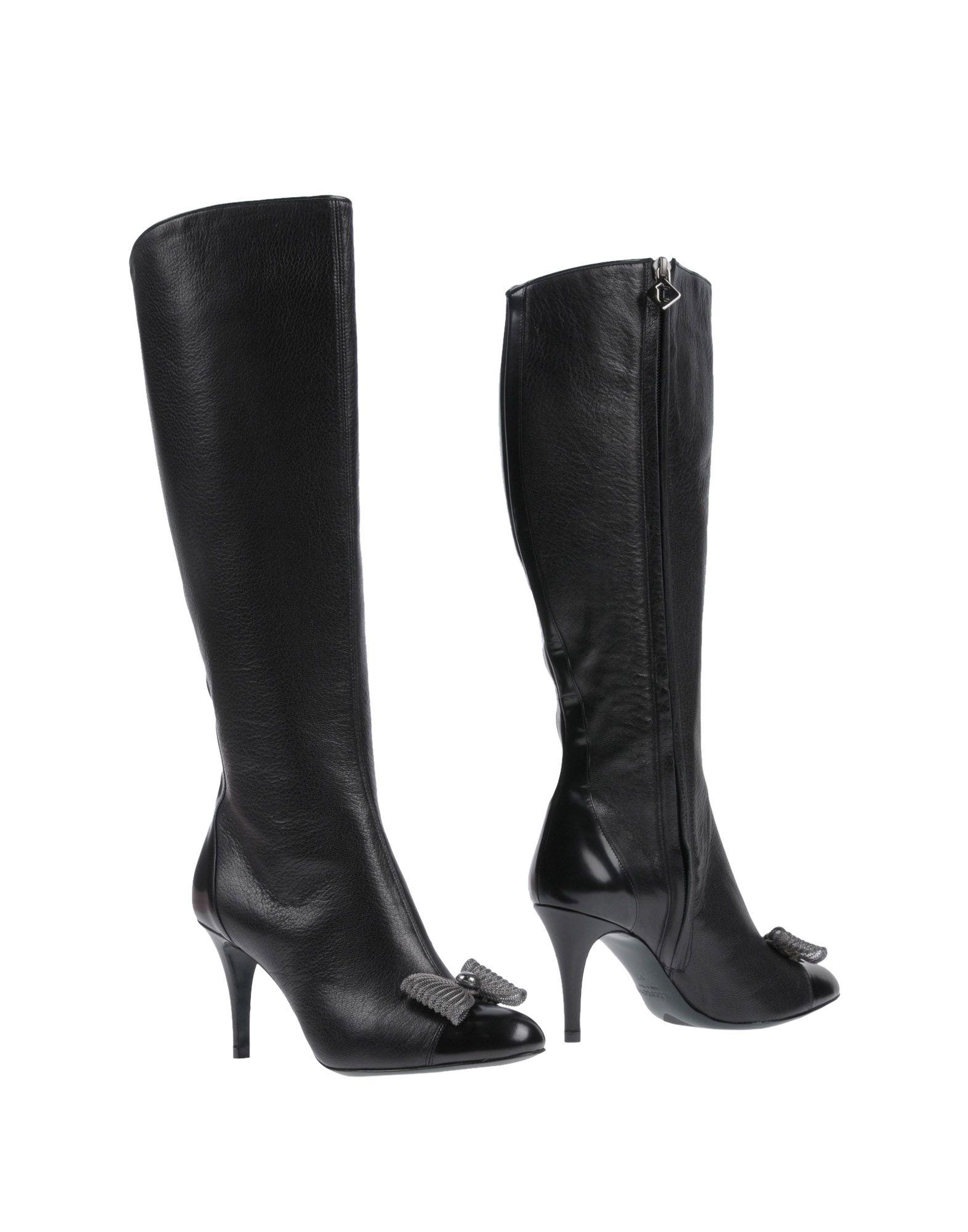 A. TESTONI Boots, Black
