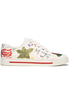 MARC JACOBS Printed canvas sneakers