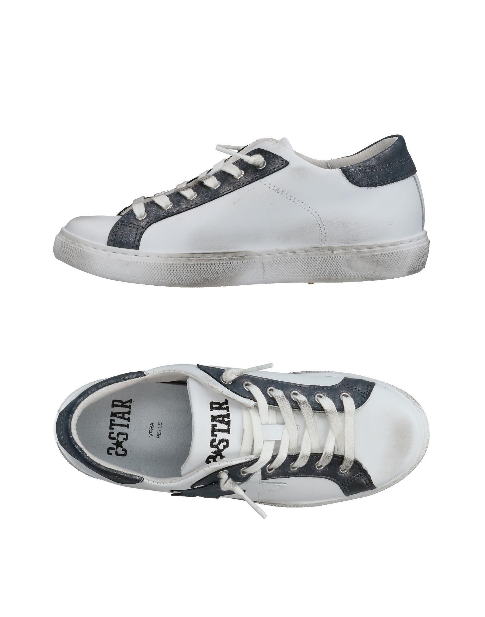 《送料無料》2STAR レディース スニーカー&テニスシューズ(ローカット) ホワイト 35 革 / 紡績繊維