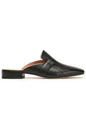 HALSTON HERITAGE Embellished leather slippers