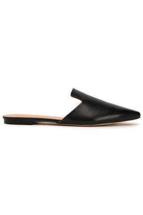 HALSTON HERITAGE Viviana metallic leather slippers