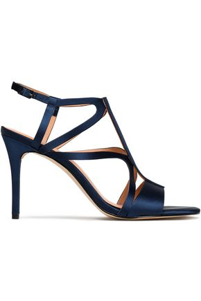 HALSTON HERITAGE Cutout satin sandals