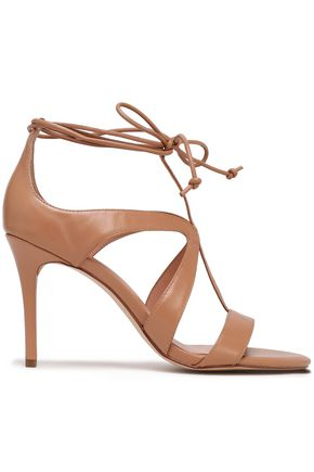 HALSTON HERITAGE Jordan lace-up cutout suede sandals