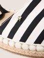 ARMANI EXCHANGE LACE-UP STRIPED CANVAS ESPADRILLE SLIP-ON Woman a