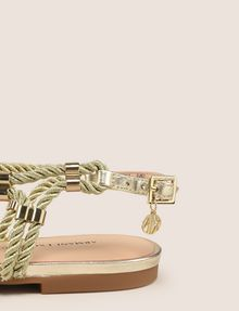 ARMANI EXCHANGE METALLIC CORD STRAPPY SANDALS Sandals Woman a