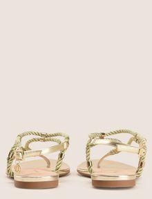 ARMANI EXCHANGE METALLIC CORD STRAPPY SANDALS Sandals Woman d
