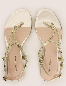 ARMANI EXCHANGE METALLIC CORD STRAPPY SANDALS Sandals Woman e
