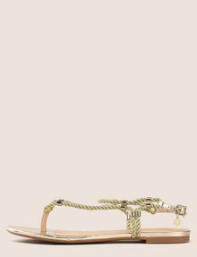 ARMANI EXCHANGE METALLIC CORD STRAPPY SANDALS Sandals Woman f