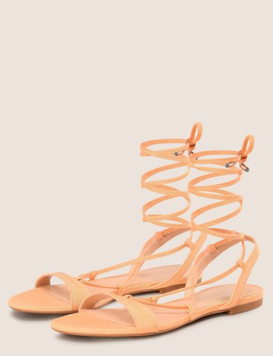 CANVAS LOGO WRAP SANDAL