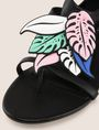 ARMANI EXCHANGE LEAF CHARM STRAPPY SANDALS Sandals Woman a