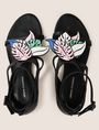 ARMANI EXCHANGE LEAF CHARM STRAPPY SANDALS Sandals Woman e