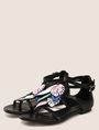 ARMANI EXCHANGE LEAF CHARM STRAPPY SANDALS Sandals Woman r