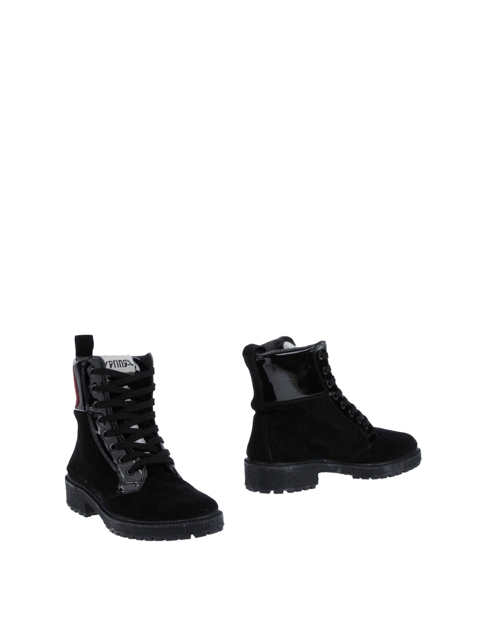 《期間限定 セール開催中》SPRINGA レディース ショートブーツ ブラック 38 革 / 紡績繊維