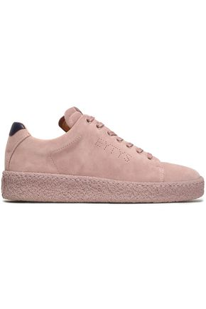 EYTYS Ace leather-trimmed perforated suede sneakers