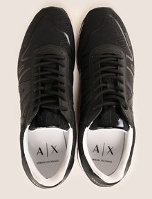 ARMANI EXCHANGE GEOMETRIC LOGO SPORTY LOWTOP SNEAKER Sneakers Man e