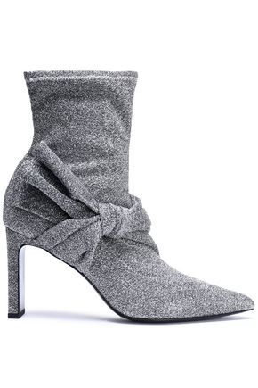 SIGERSON MORRISON Helin knotted metallic stretch-knit sock boots