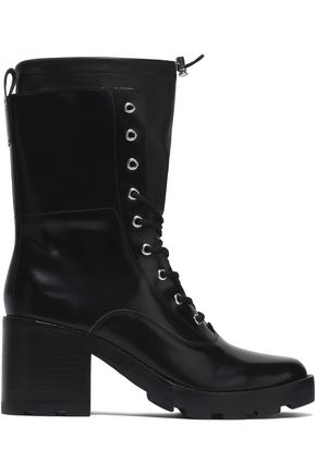 SIGERSON MORRISON Glossed leather combat boots