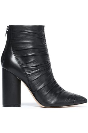 SIGERSON MORRISON Kimay ruched leather ankle boots
