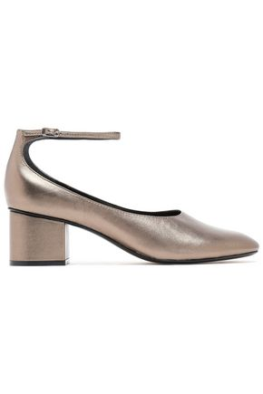 SIGERSON MORRISON Kairos metallic patent-leather pumps