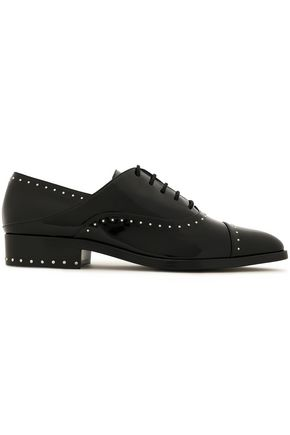 SIGERSON MORRISON Elinor studded patent-leather brogues