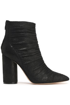 SIGERSON MORRISON Ruched metallic leather ankle boots