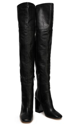 84b443e950c SIGERSON MORRISON Jessica pebbled-leather thigh boots