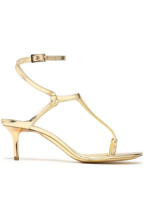 EMILIO PUCCI Metallic leather sandals