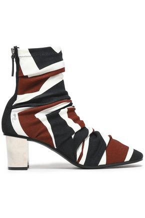 EMILIO PUCCI Printed jersey sock boots