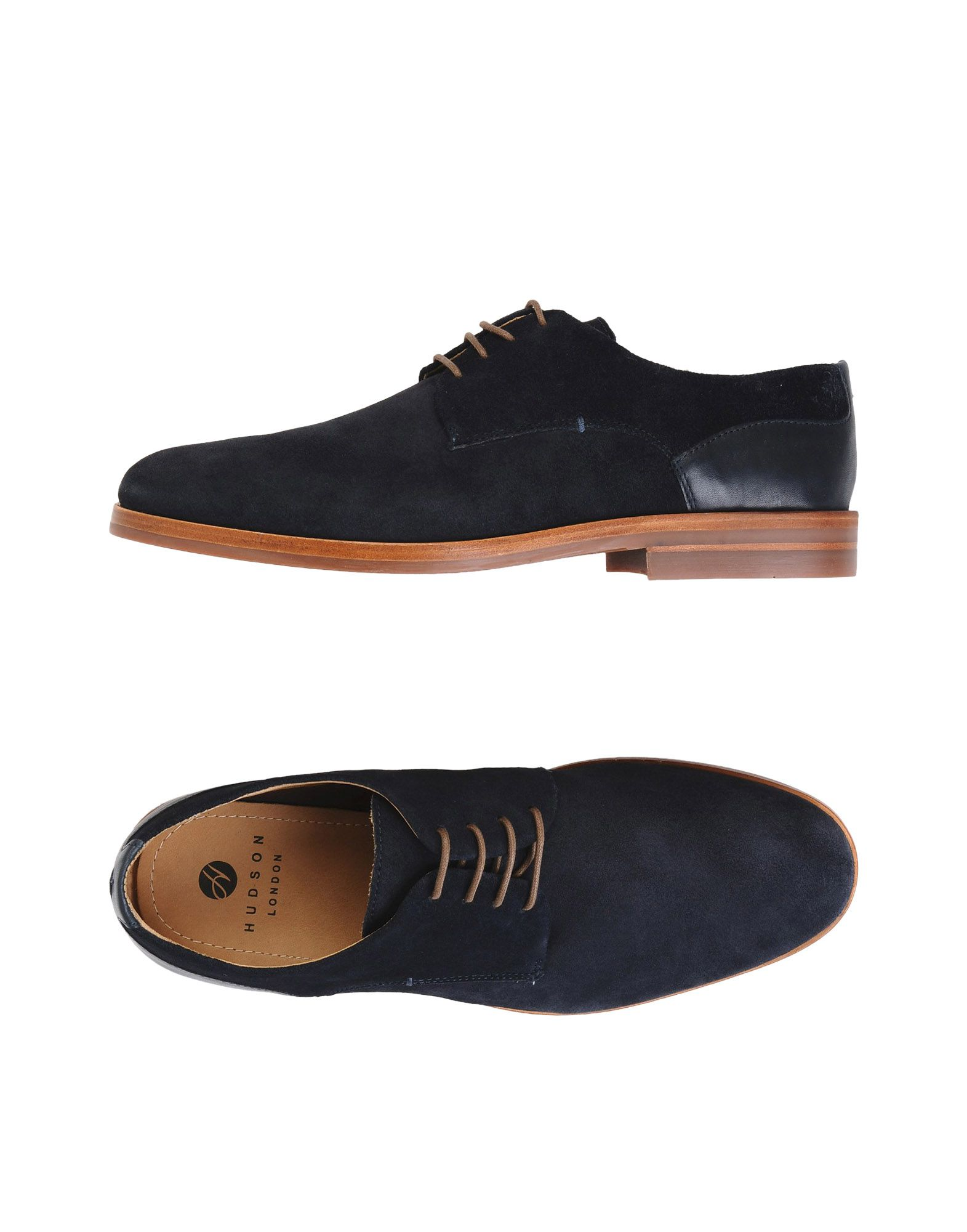 H BY HUDSON Laced Shoes in Dark Blue