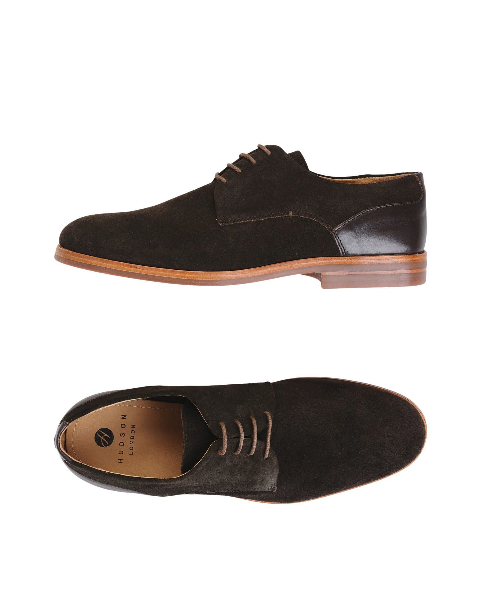 H BY HUDSON Laced Shoes in Dark Brown