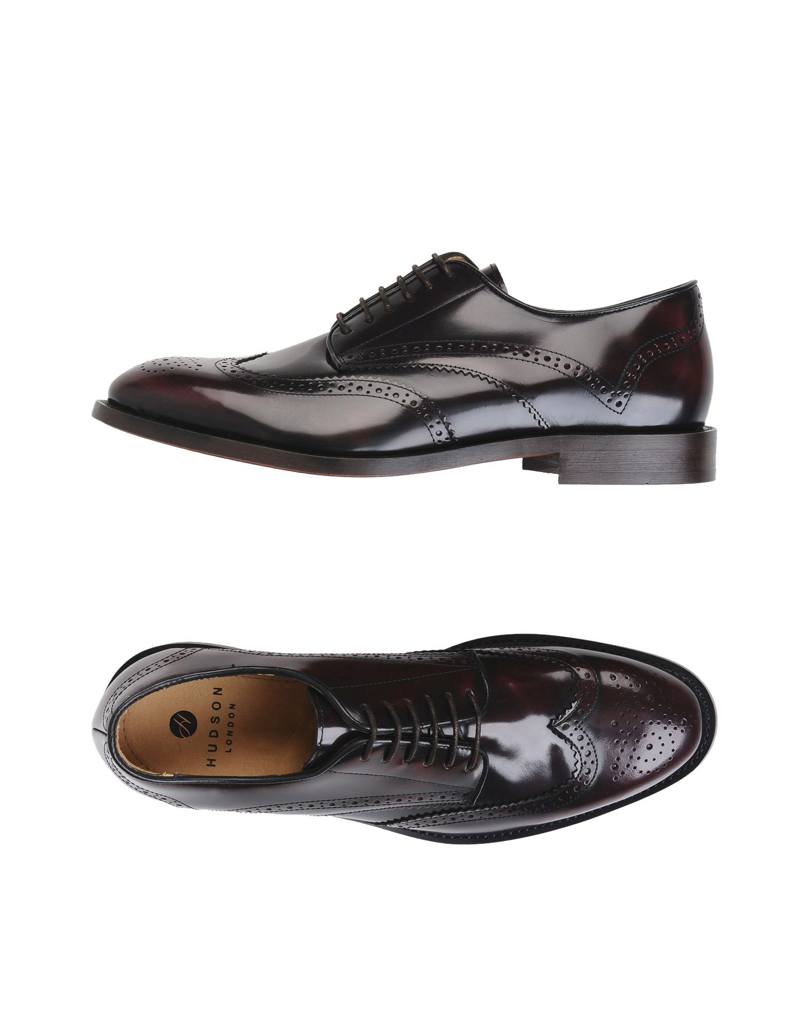 H BY HUDSON Laced Shoes in Maroon