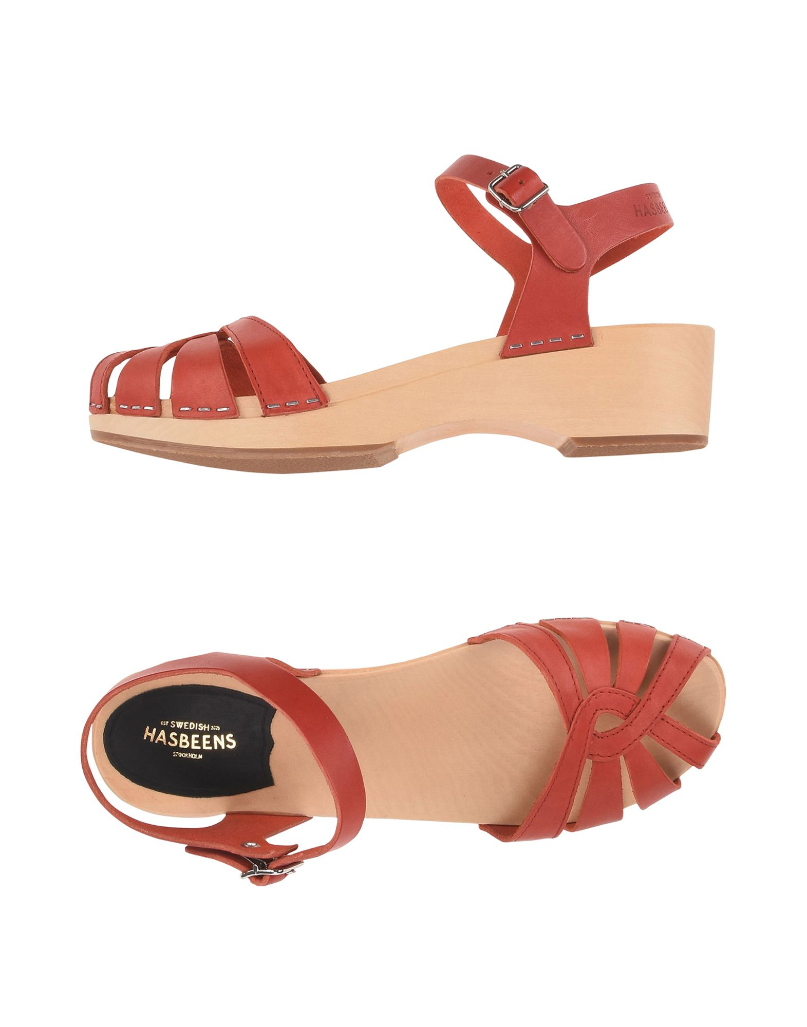 SWEDISH HASBEENS Sandals in Red