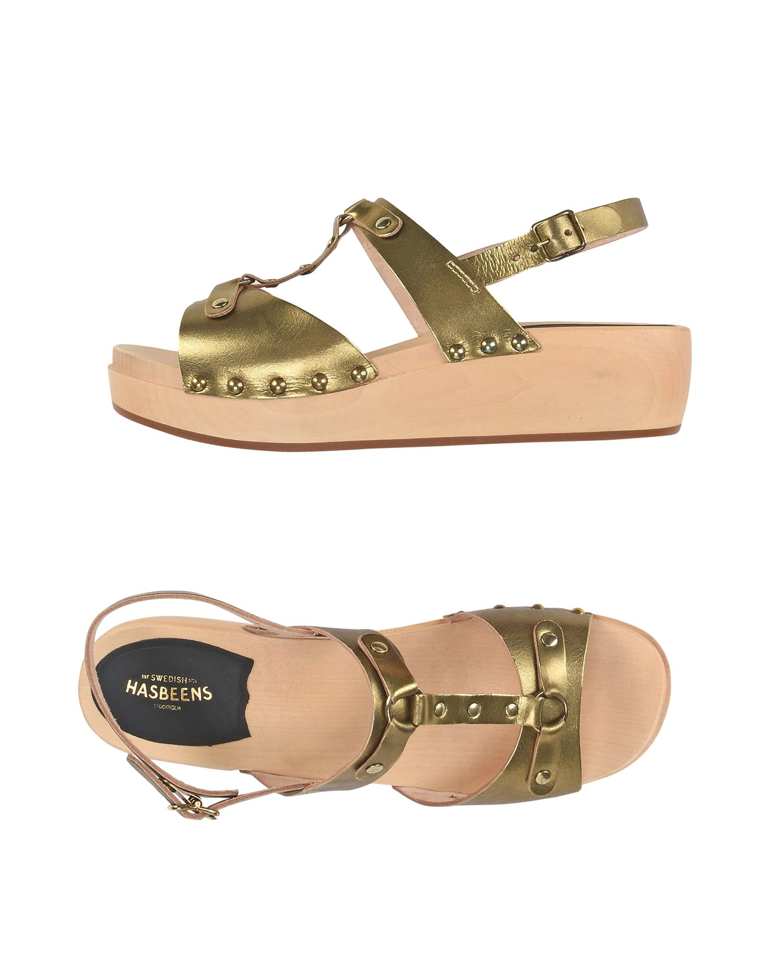 SWEDISH HASBEENS Sandals in Gold