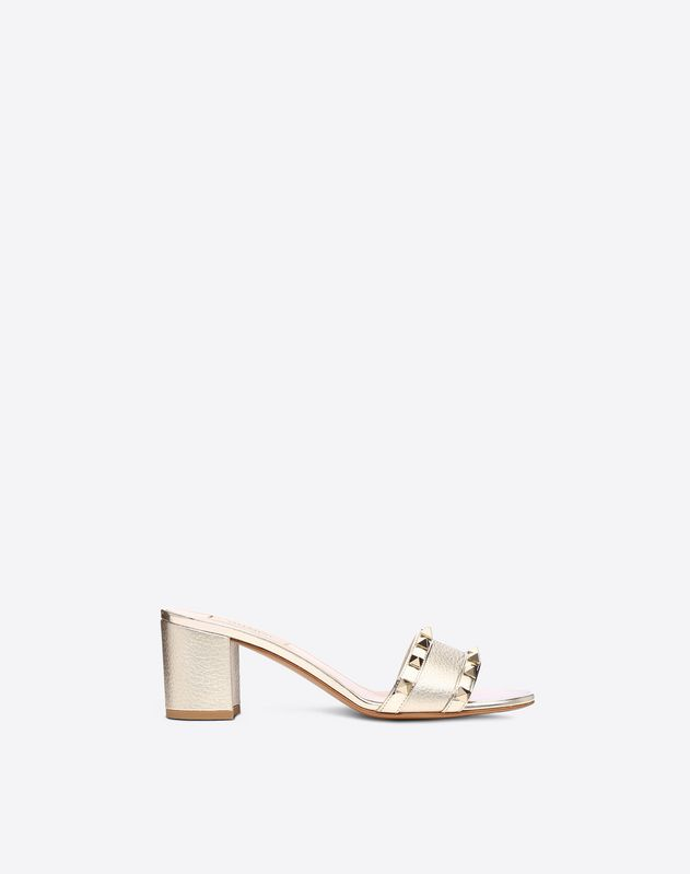 Metallic Rockstud Mule Sandal 60mm