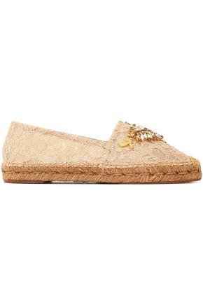 DOLCE & GABBANA Embellished corded lace espadrilles