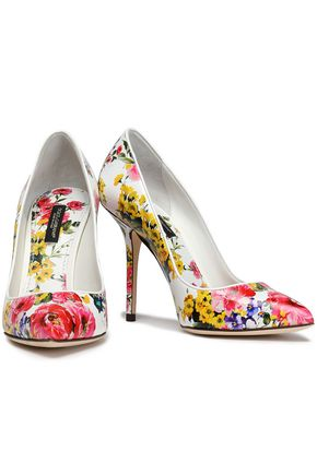 DOLCE   GABBANA Floral-print leather pumps 08c08c9bf3417
