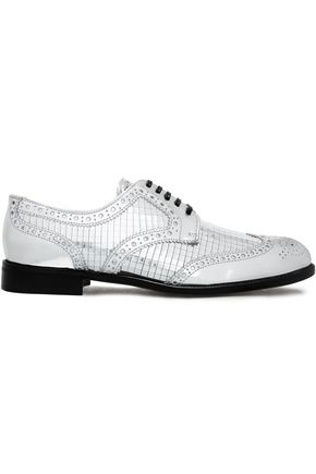 DOLCE & GABBANA Mirrored-leather brogues