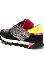 DOLCE & GABBANA Capri glittered suede, mesh and patent-leather sneakers