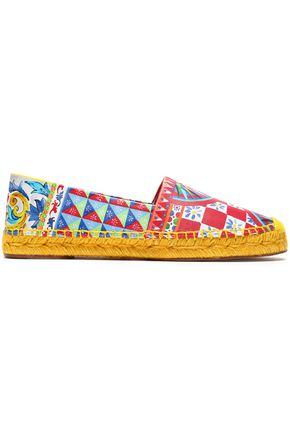 DOLCE & GABBANA Printed leather espadrilles