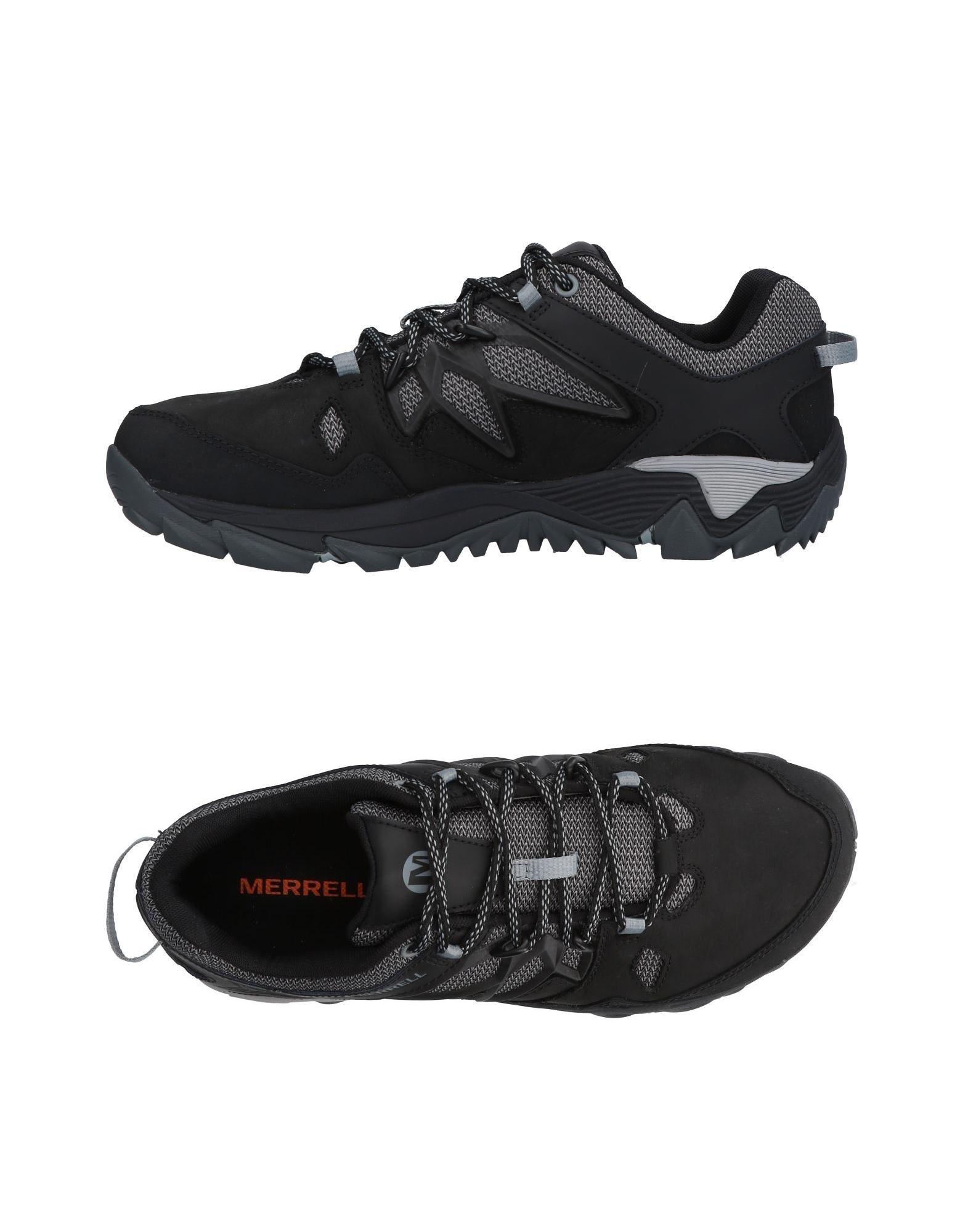 《送料無料》MERRELL メンズ スニーカー&テニスシューズ(ローカット) ブラック 7.5 革 / 紡績繊維