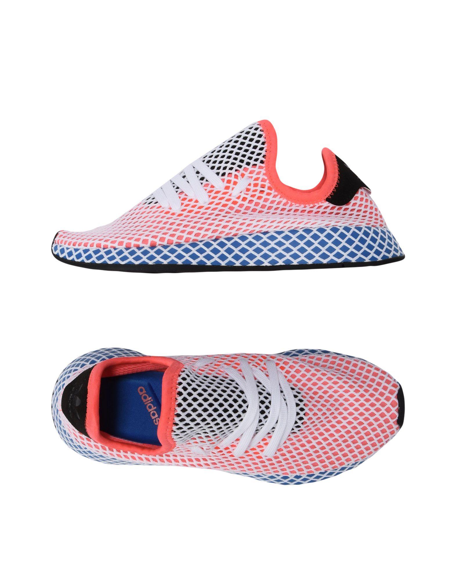 《送料無料》ADIDAS ORIGINALS レディース スニーカー&テニスシューズ(ローカット) コーラル 4 紡績繊維 DEERUPT RUNNER