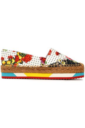 DOLCE & GABBANA Printed woven espadrilles